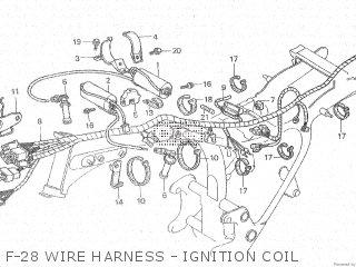Honda Cx500c 1982 c Canada F-28 Wire Harness - Ignition Coil
