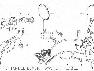Honda Cx500c 1982 c Canada F-3 Handle Lever - Switch - Cable