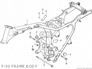Honda Cx500c 1982 c Canada F-30 Frame Body