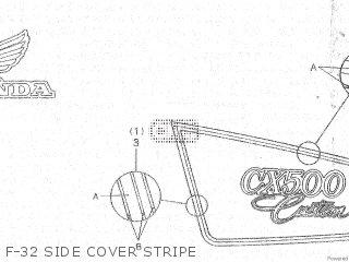 Honda Cx500c 1982 c Canada F-32 Side Cover Stripe