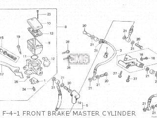 Honda Cx500c 1982 c Canada F-4-1 Front Brake Master Cylinder