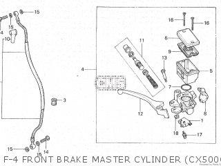 Honda Cx500c 1982 c Canada F-4 Front Brake Master Cylinder cx500cc - Cm