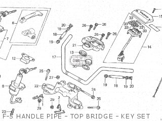 Honda Cx500c 1982 c Canada F-5 Handle Pipe - Top Bridge - Key Set