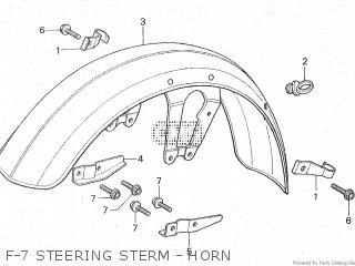 Honda Cx500c 1982 c Canada F-7 Steering Sterm - Horn