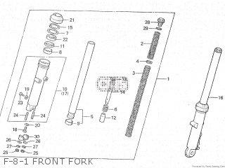 Honda Cx500c 1982 c Canada F-8-1 Front Fork