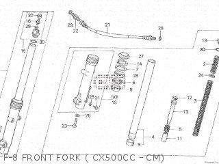 Honda Cx500c 1982 c Canada F-8 Front Fork  Cx500cc - Cm