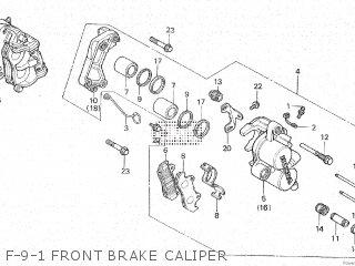 Honda Cx500c 1982 c Canada F-9-1 Front Brake Caliper