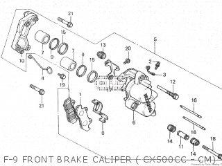 Honda Cx500c 1982 c Canada F-9 Front Brake Caliper  Cx500cc - Cm