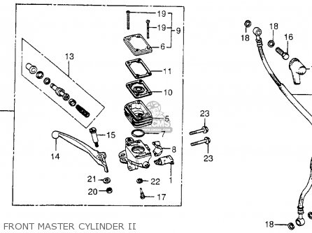 Honda Cx500c Custom 1979 z Usa Front Master Cylinder Ii