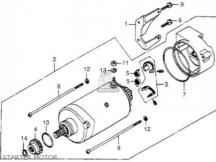 Honda Cx500c Custom 1979 z Usa Starter Motor