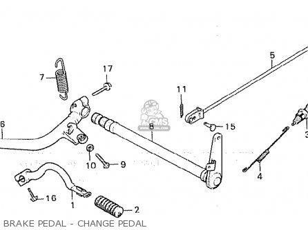 Honda Cx500c Custom 1980 a Australia Brake Pedal - Change Pedal