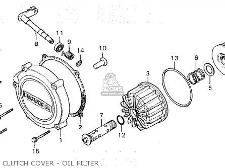 Honda Cx500c Custom 1980 a Australia Clutch Cover - Oil Filter