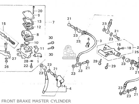 Honda Cx500c Custom 1980 a Australia Front Brake Master Cylinder