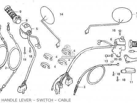 Honda Cx500c Custom 1980 a Australia Handle Lever - Switch - Cable