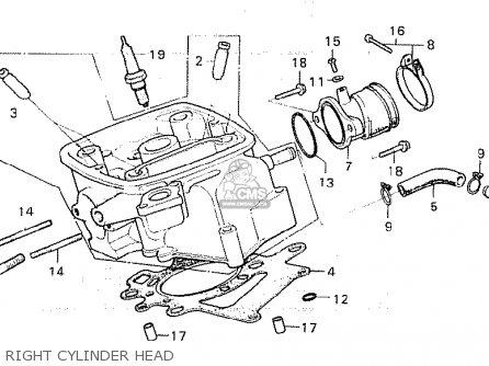 Honda Cx500c Custom 1980 a Australia Right Cylinder Head