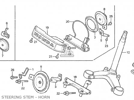 Honda Cx500c Custom 1980 a Australia Steering Stem - Horn