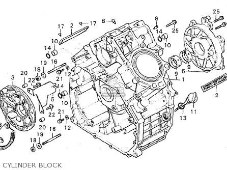 Honda Cx500c Custom 1980 a Canada Cylinder Block