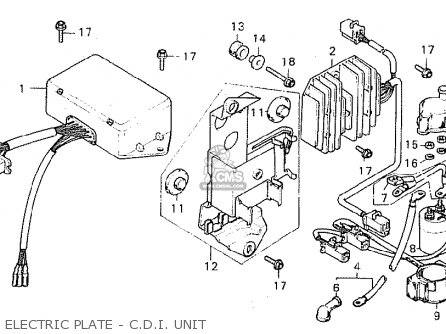 Honda Cx500c Custom 1980 a Canada Electric Plate - C d i  Unit