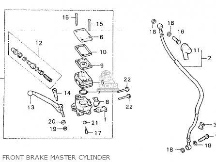 Honda Cx500c Custom 1980 a Canada Front Brake Master Cylinder