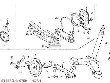 Honda Cx500c Custom 1980 a Canada Steering Stem - Horn