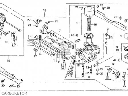 Honda Cx500c Custom 1980 a Denmark Carburetor