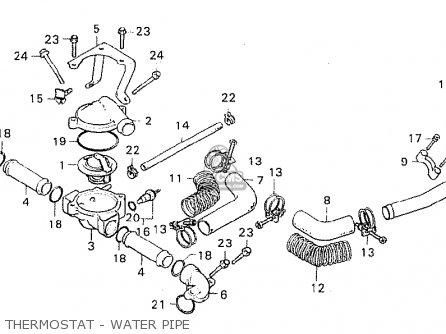 Honda Cx500c Custom 1980 a Denmark Thermostat - Water Pipe