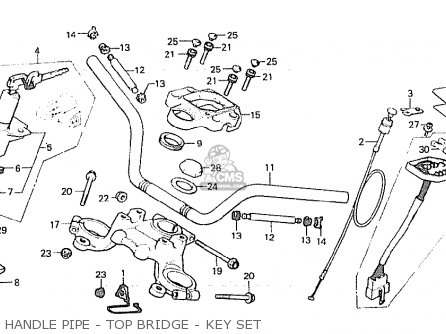 Honda Cx500c Custom 1980 a European Direct Sales Handle Pipe - Top Bridge - Key Set