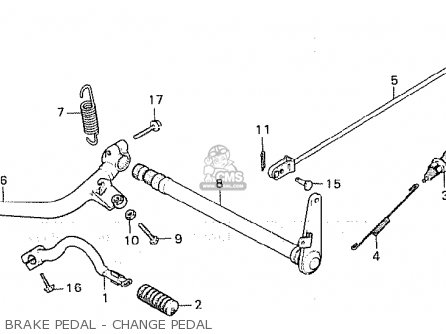 Honda Cx500c Custom 1980 a France Brake Pedal - Change Pedal