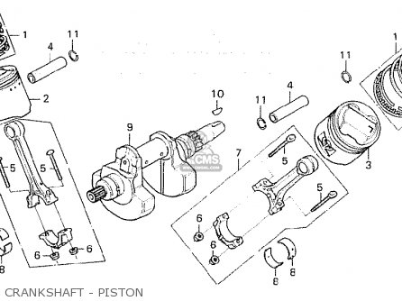 Honda Cx500c Custom 1980 a France Crankshaft - Piston
