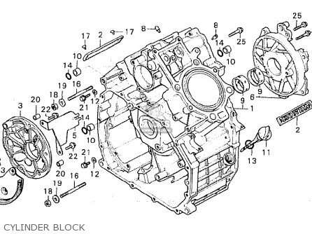 Honda Cx500c Custom 1980 a France Cylinder Block