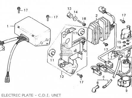 Honda Cx500c Custom 1980 a France Electric Plate - C d i  Unit
