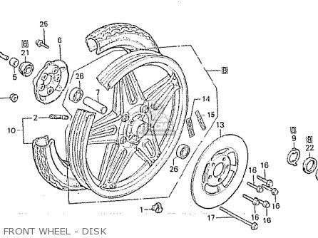 Honda Cx500c Custom 1980 a Germany   Full Power Front Wheel - Disk