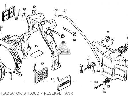 Honda Cx500c Custom 1980 a Germany   Full Power Radiator Shroud - Reserve Tank