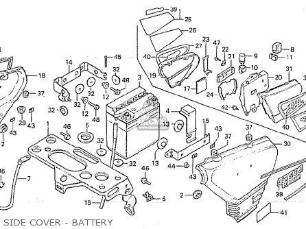 Honda Cx500c Custom 1980 a Germany   Full Power Side Cover - Battery