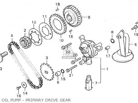 Honda Cx500c Custom 1980 a Italy Oil Pump - Primary Drive Gear
