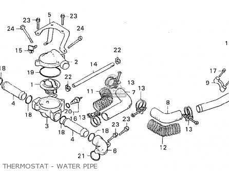 Honda Cx500c Custom 1980 a Italy Thermostat - Water Pipe