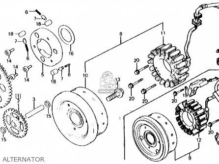 Honda Cx500c Custom 1980 a Usa Alternator