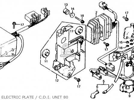 Honda Cx500c Custom 1980 a Usa Electric Plate   C d i  Unit 80