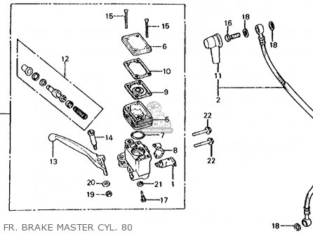 Honda Cx500c Custom 1980 a Usa Fr  Brake Master Cyl  80