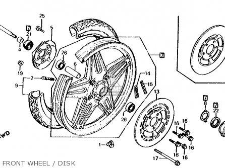 Honda Cx500c Custom 1980 a Usa Front Wheel   Disk