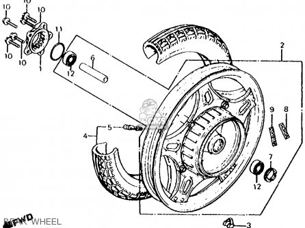Honda Cx500c Custom 1980 a Usa Rear Wheel