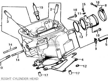 Honda Cx500c Custom 1980 a Usa Right Cylinder Head