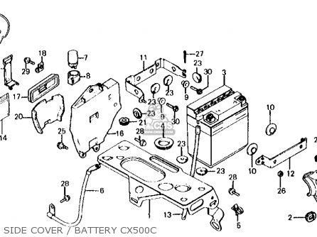 Honda Cx500c Custom 1980 a Usa Side Cover   Battery Cx500c