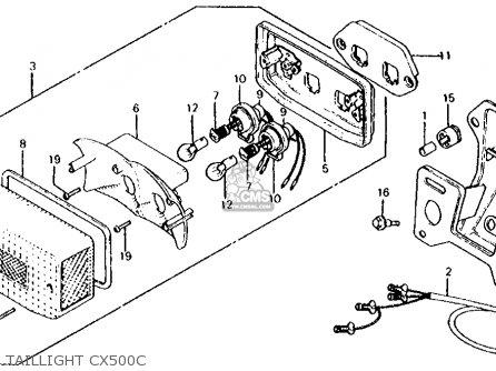 Honda Cx500c Custom 1980 a Usa Taillight Cx500c