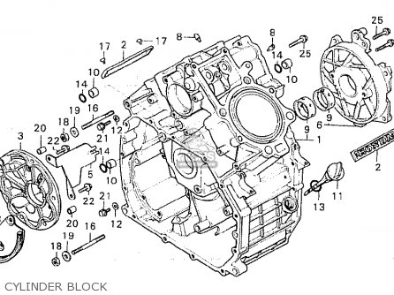 Honda Cx500c Custom 1981 b Australia Cylinder Block