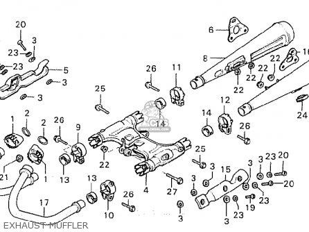Honda Cx500c Custom 1981 b Australia Exhaust Muffler