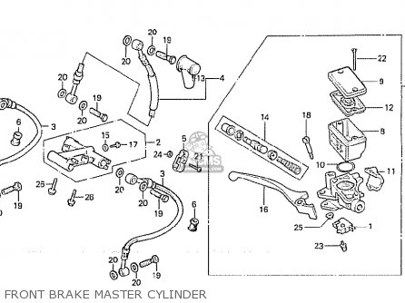 Honda Cx500c Custom 1981 b Australia Front Brake Master Cylinder