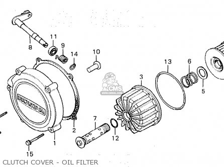 Honda Cx500c Custom 1981 b Canada Clutch Cover - Oil Filter