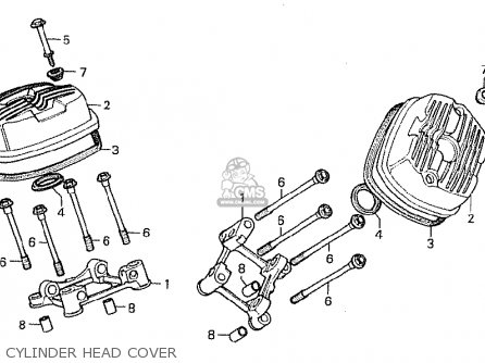 Honda Cx500c Custom 1981 b Denmark Cylinder Head Cover
