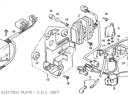Honda Cx500c Custom 1981 b Denmark Electric Plate - C d i  Unit